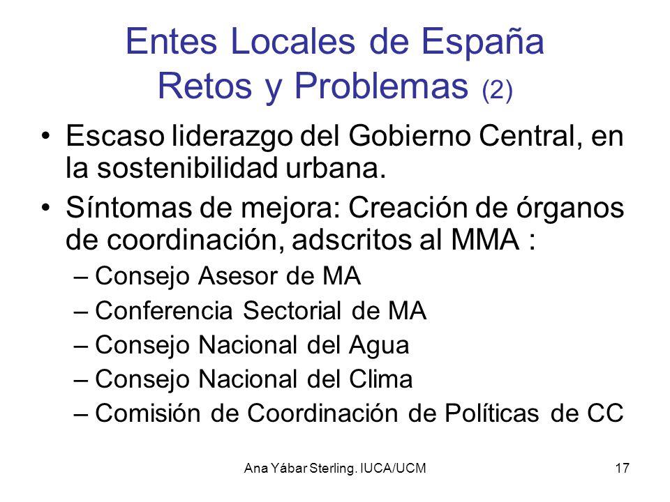 Entes Locales de España Retos y Problemas (2)