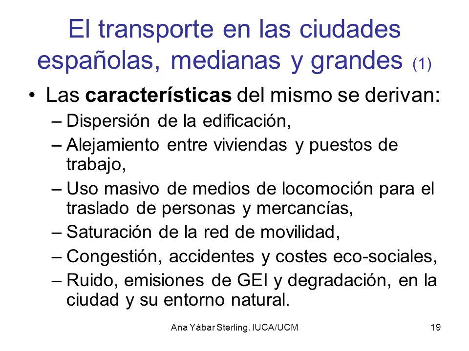 El transporte en las ciudades españolas, medianas y grandes (1)