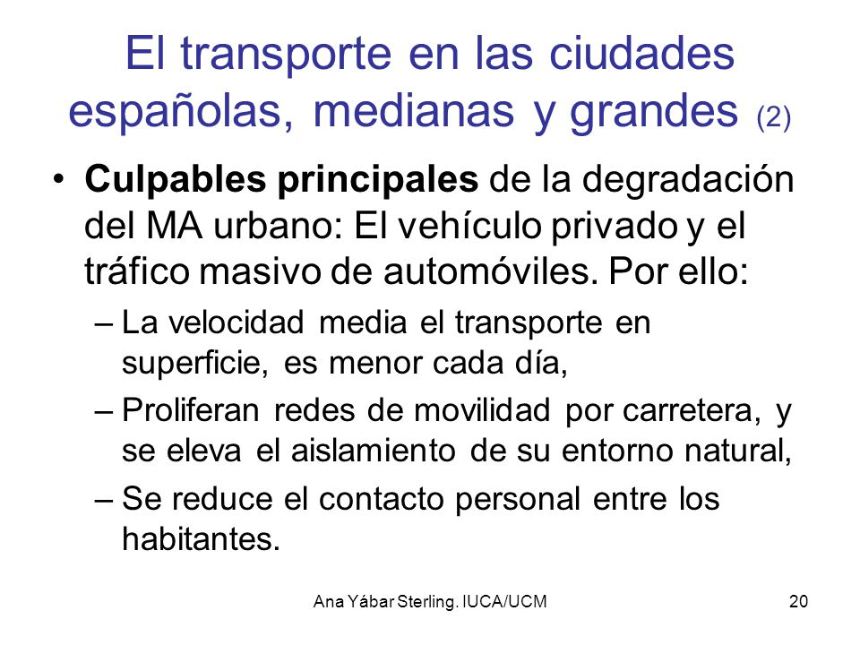 El transporte en las ciudades españolas, medianas y grandes (2)
