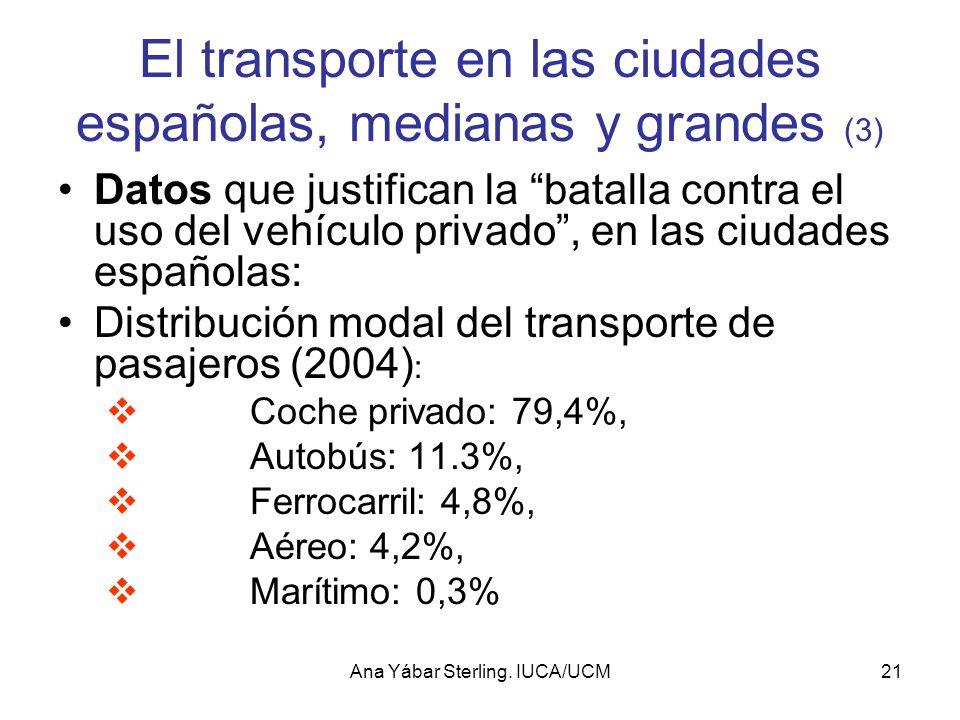 El transporte en las ciudades españolas, medianas y grandes (3)