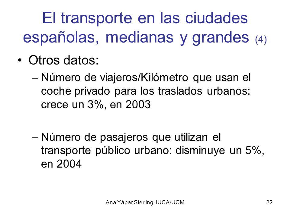 El transporte en las ciudades españolas, medianas y grandes (4)