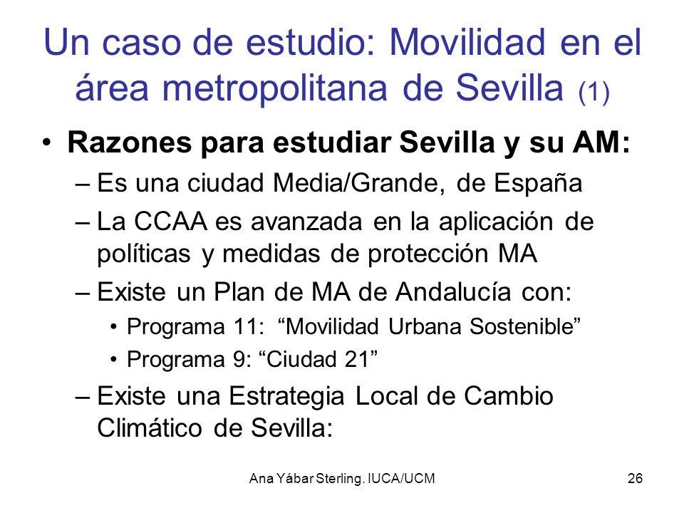 Un caso de estudio: Movilidad en el área metropolitana de Sevilla (1)