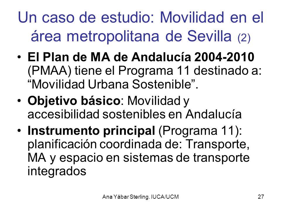 Un caso de estudio: Movilidad en el área metropolitana de Sevilla (2)