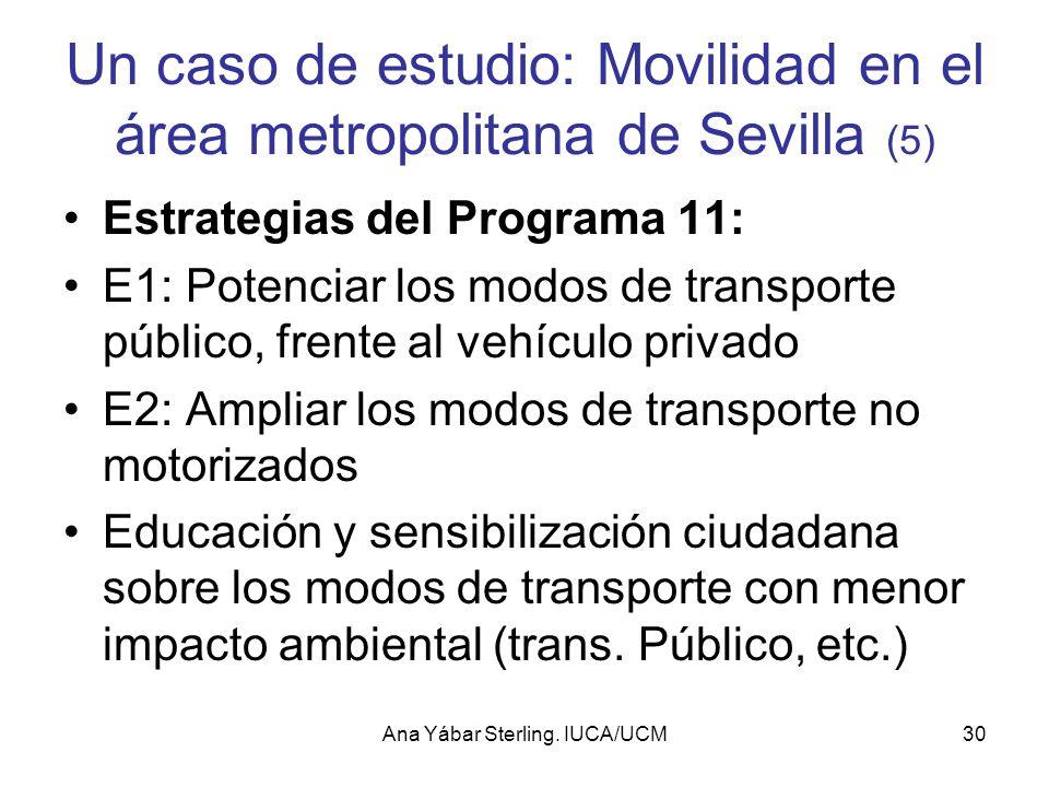 Un caso de estudio: Movilidad en el área metropolitana de Sevilla (5)