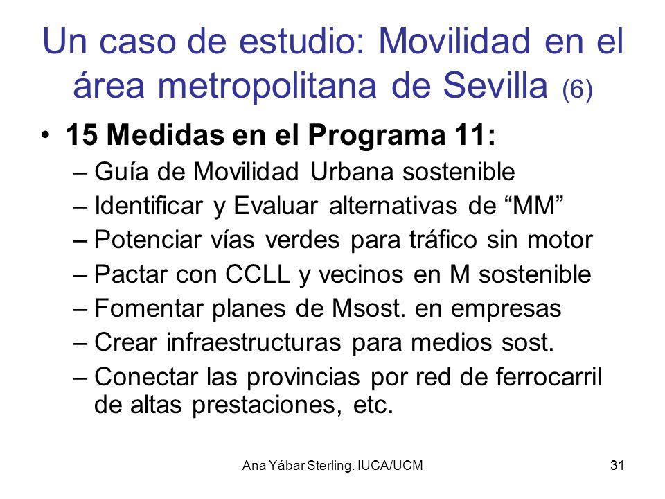 Un caso de estudio: Movilidad en el área metropolitana de Sevilla (6)