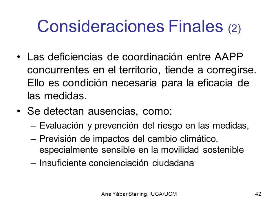 Consideraciones Finales (2)