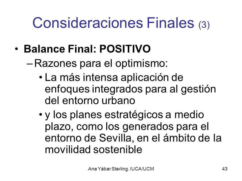 Consideraciones Finales (3)