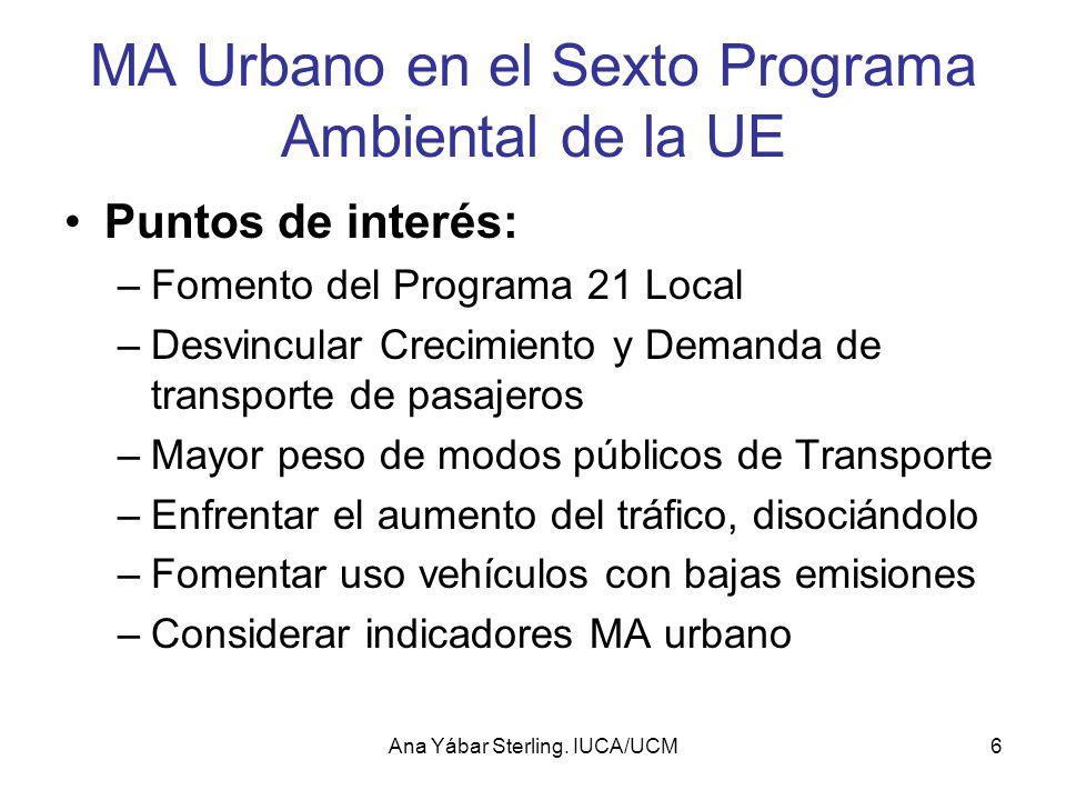 MA Urbano en el Sexto Programa Ambiental de la UE