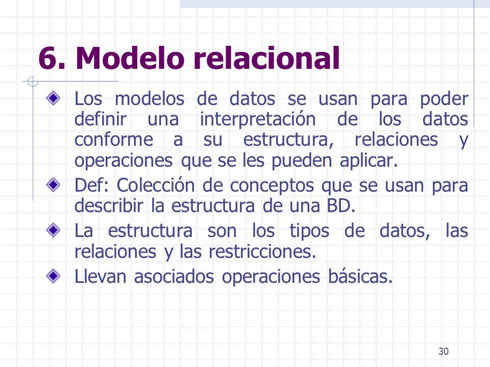 6. Modelo relacional