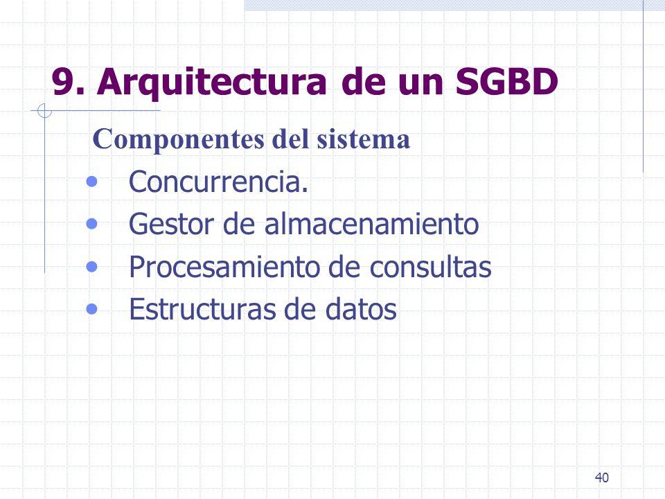 9. Arquitectura de un SGBD