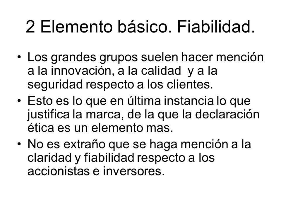 2 Elemento básico. Fiabilidad.