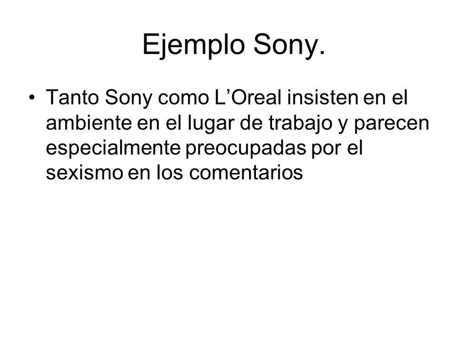 Ejemplo Sony.