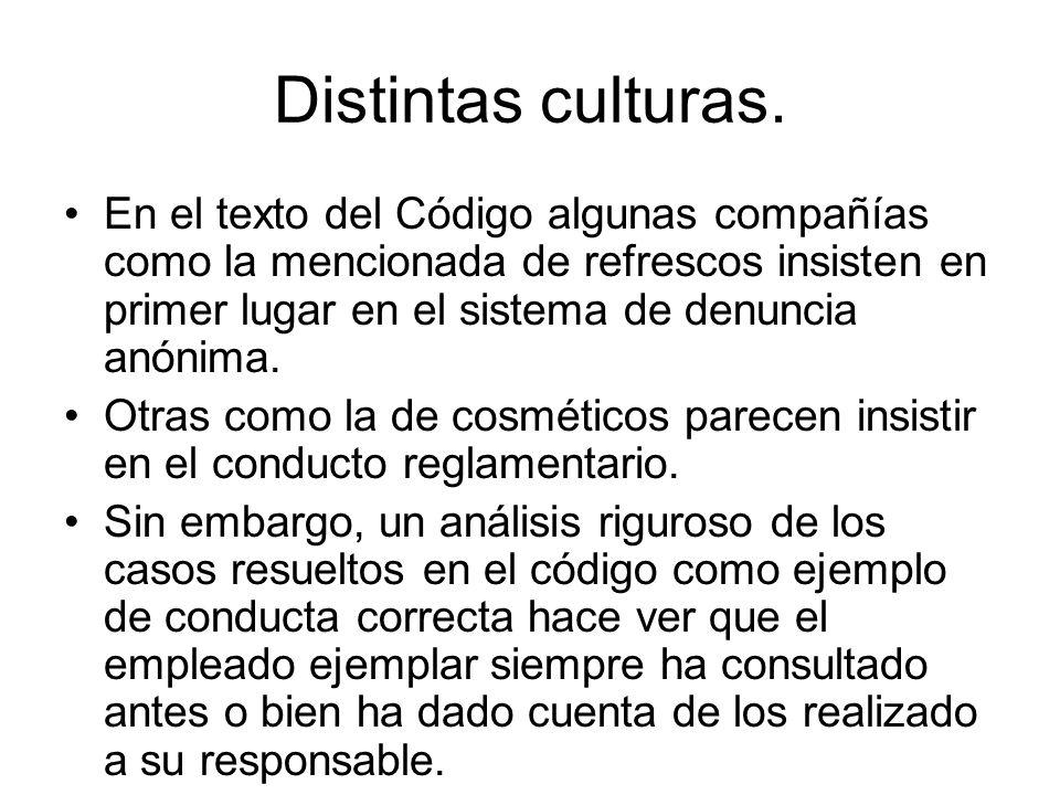Distintas culturas.