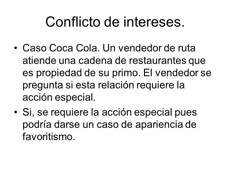 Conflicto de intereses.