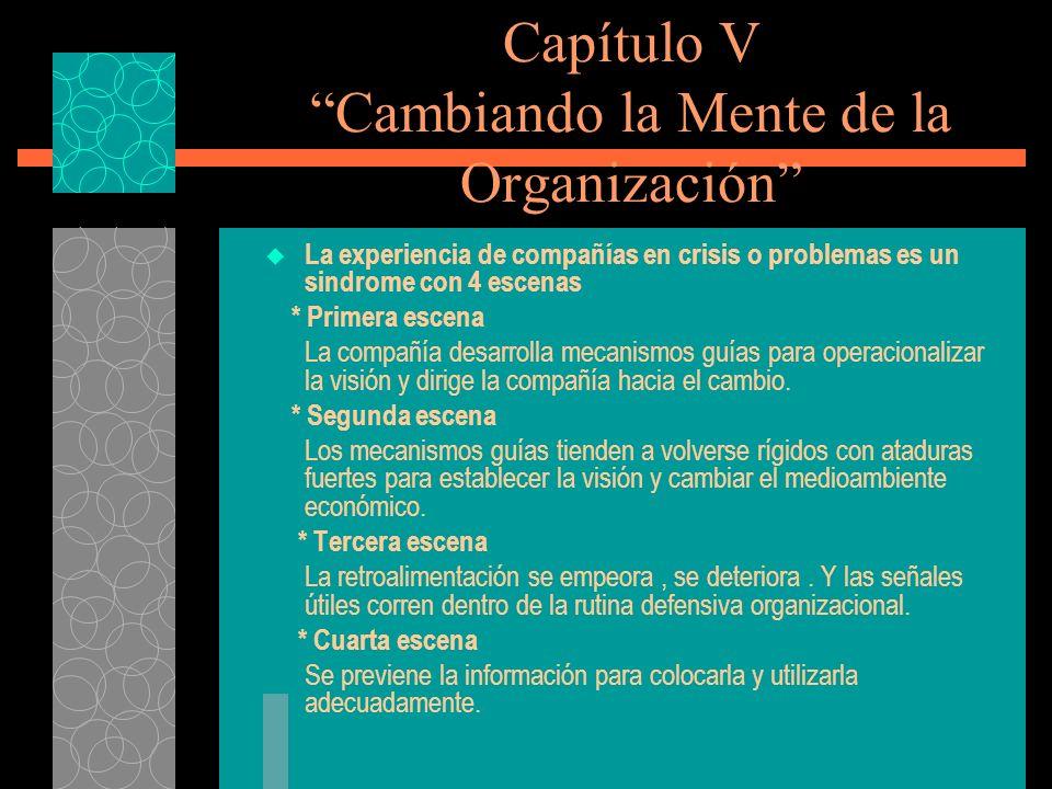 Capítulo V Cambiando la Mente de la Organización