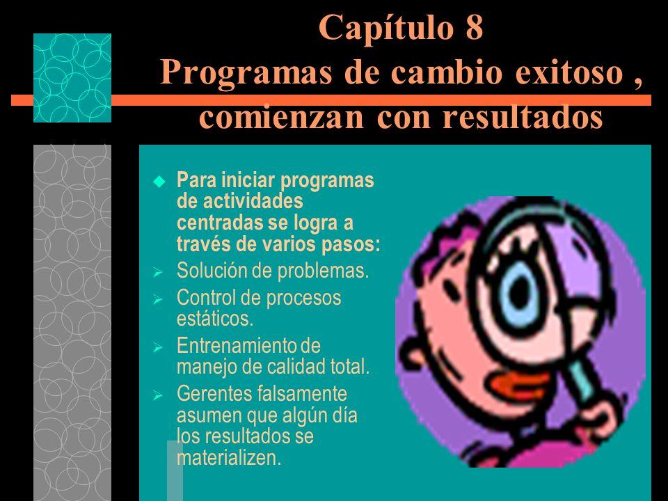 Capítulo 8 Programas de cambio exitoso , comienzan con resultados