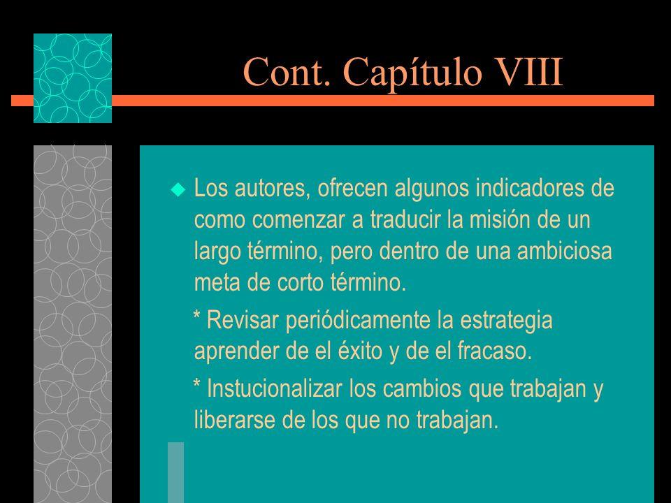 Cont. Capítulo VIII