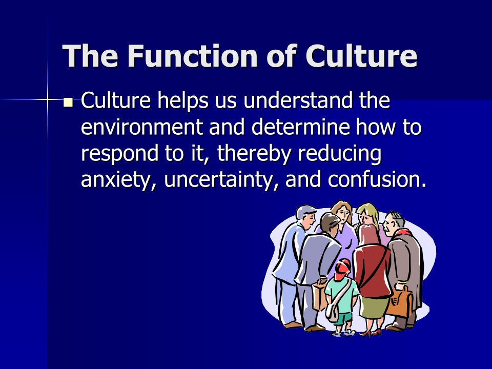 The Function of Culture