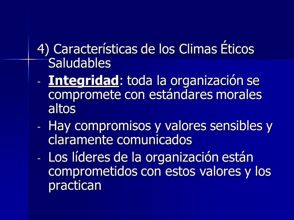 4) Características de los Climas Éticos Saludables