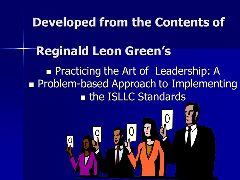 Developed from the Contents of Reginald Leon Green's