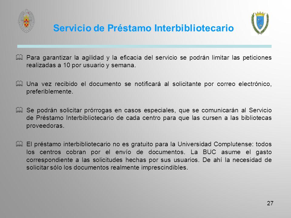 Servicio de Préstamo Intercentros