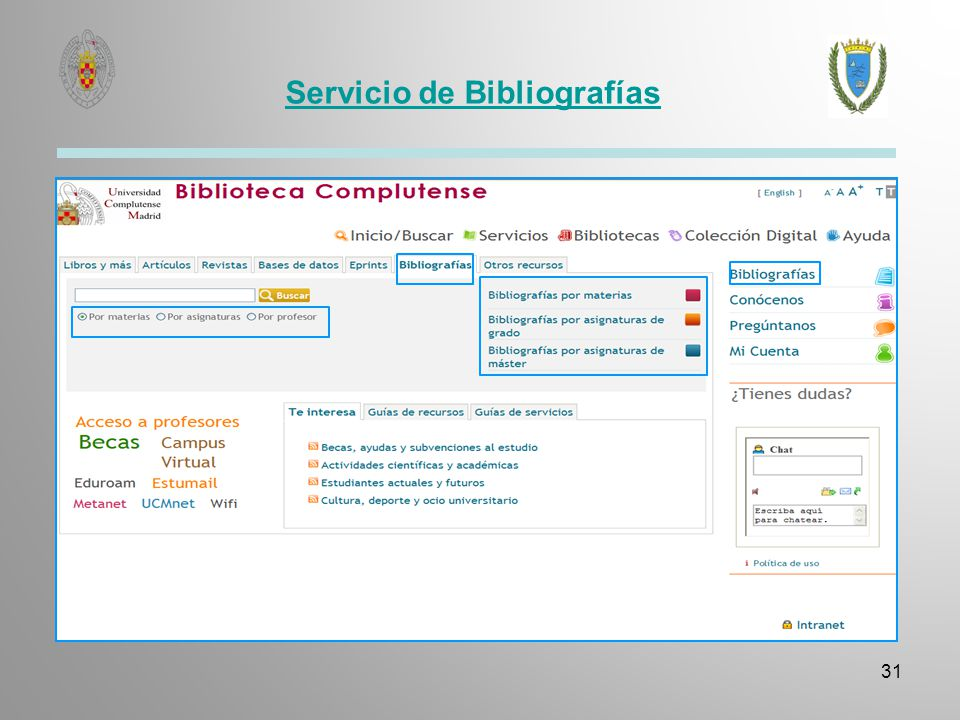 Bibliografías por materias