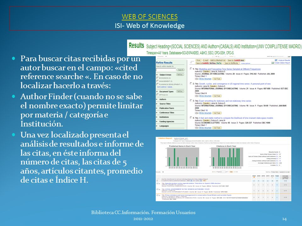 WEB OF SCIENCES ISI- Web of Knowledge