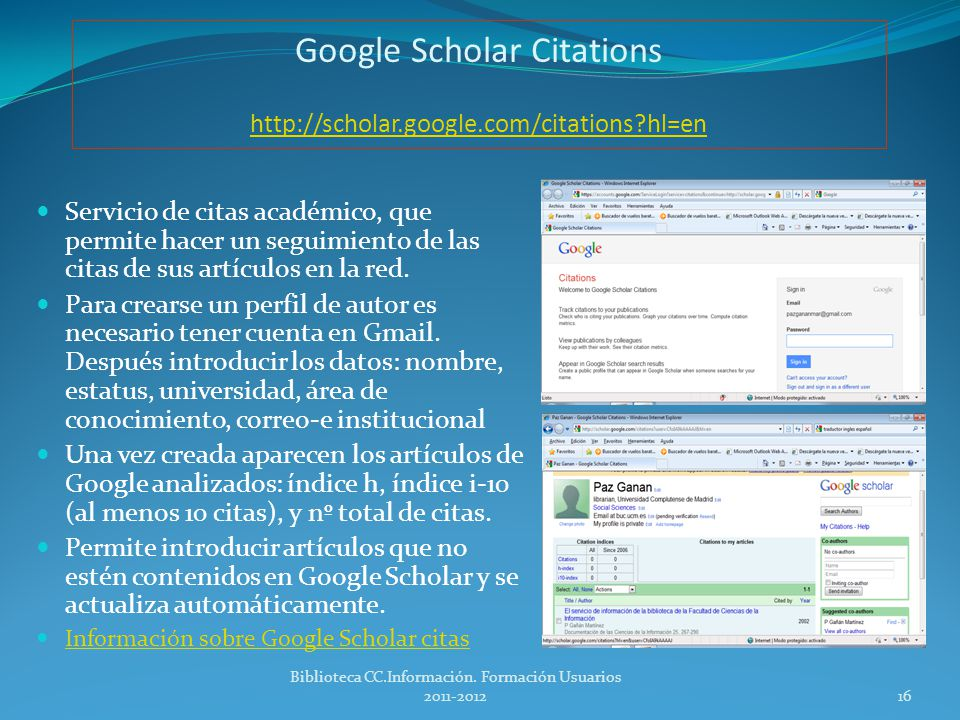 Google Scholar Citations http://scholar.google.com/citations hl=en