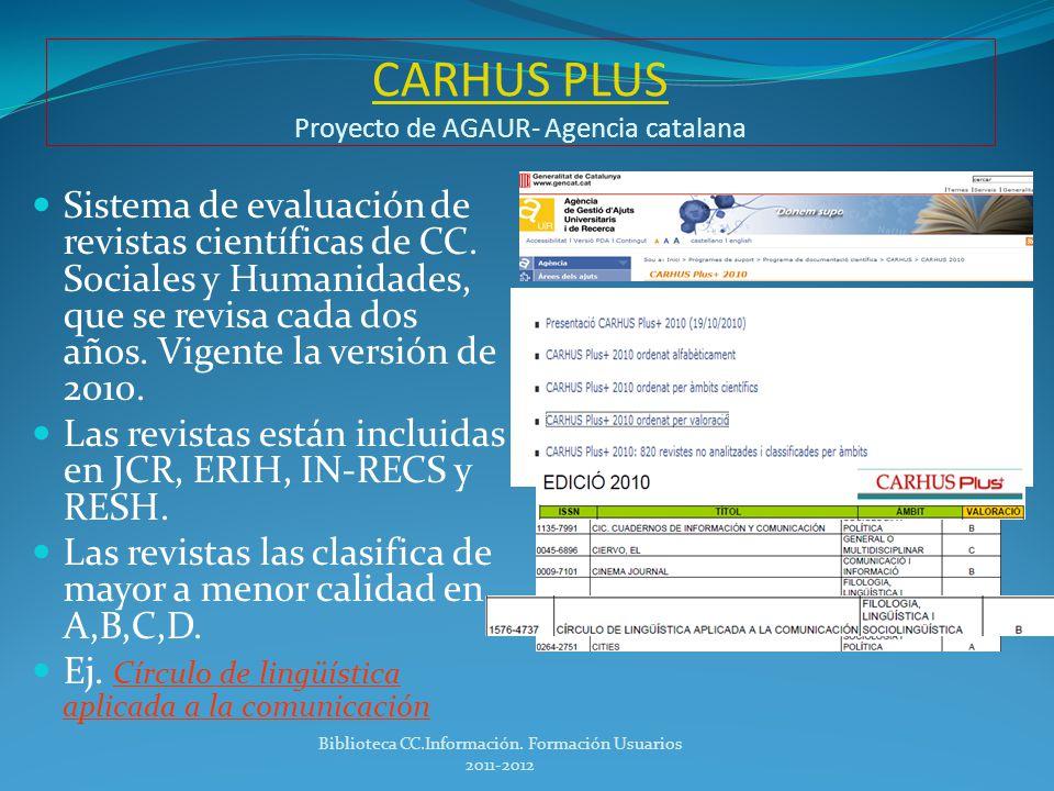 CARHUS PLUS Proyecto de AGAUR- Agencia catalana