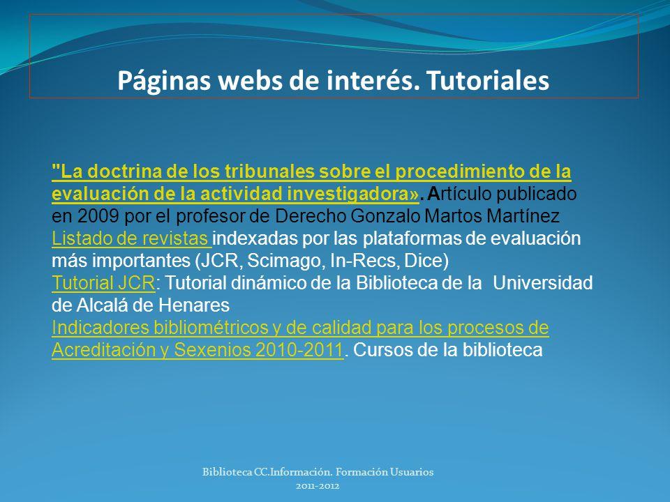 Páginas webs de interés. Tutoriales