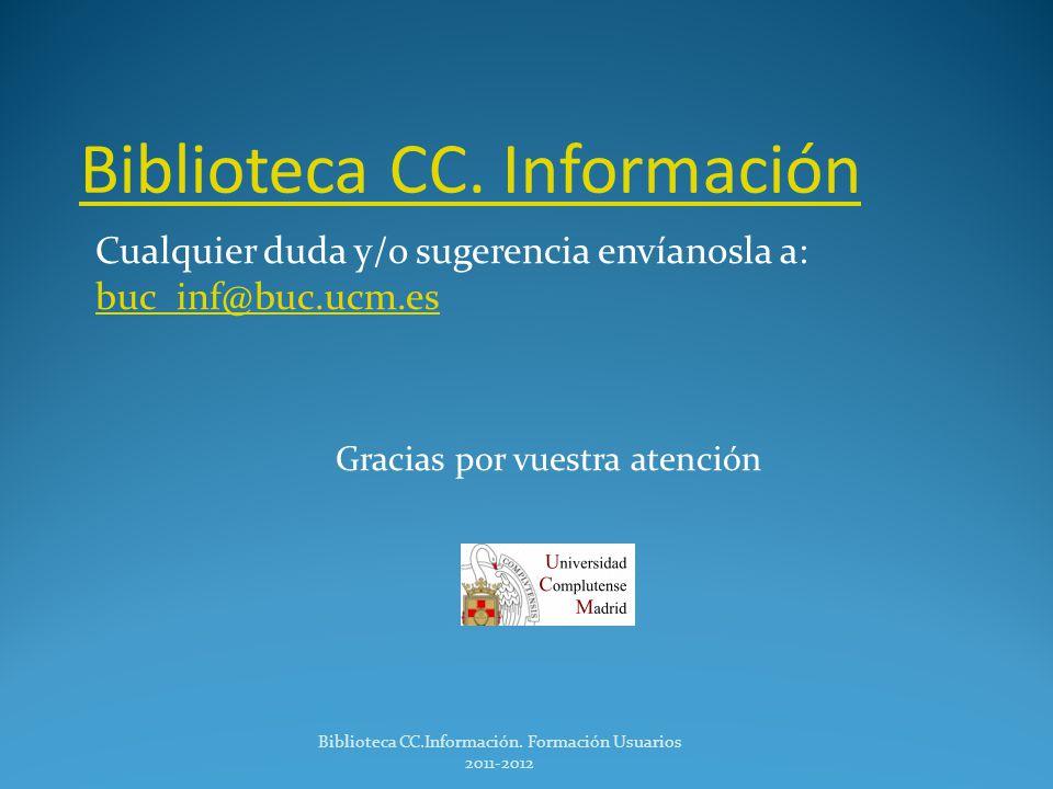 Biblioteca CC. Información