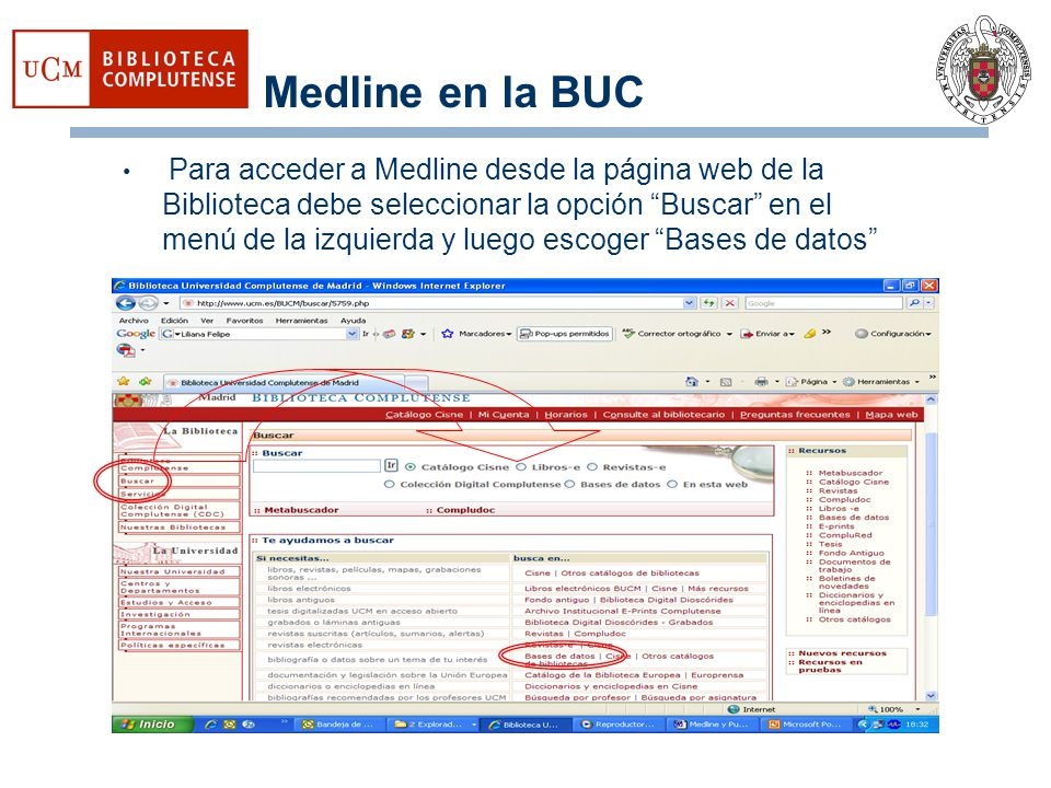 Medline en la BUC