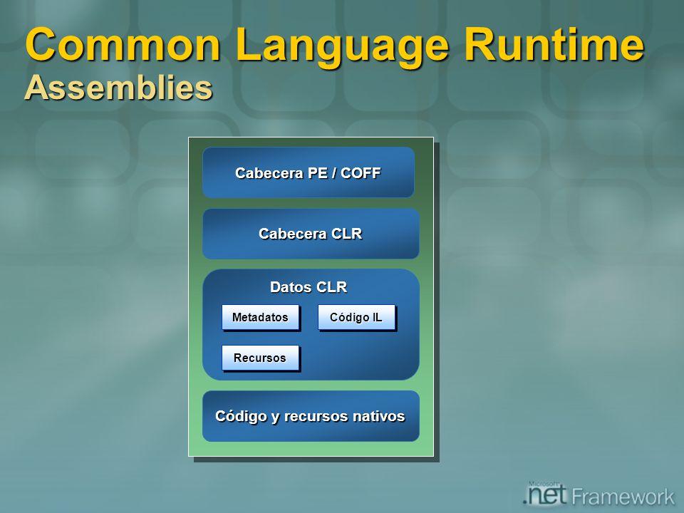 Código y recursos nativos