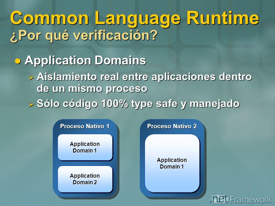 Common Language Runtime ¿Por qué verificación