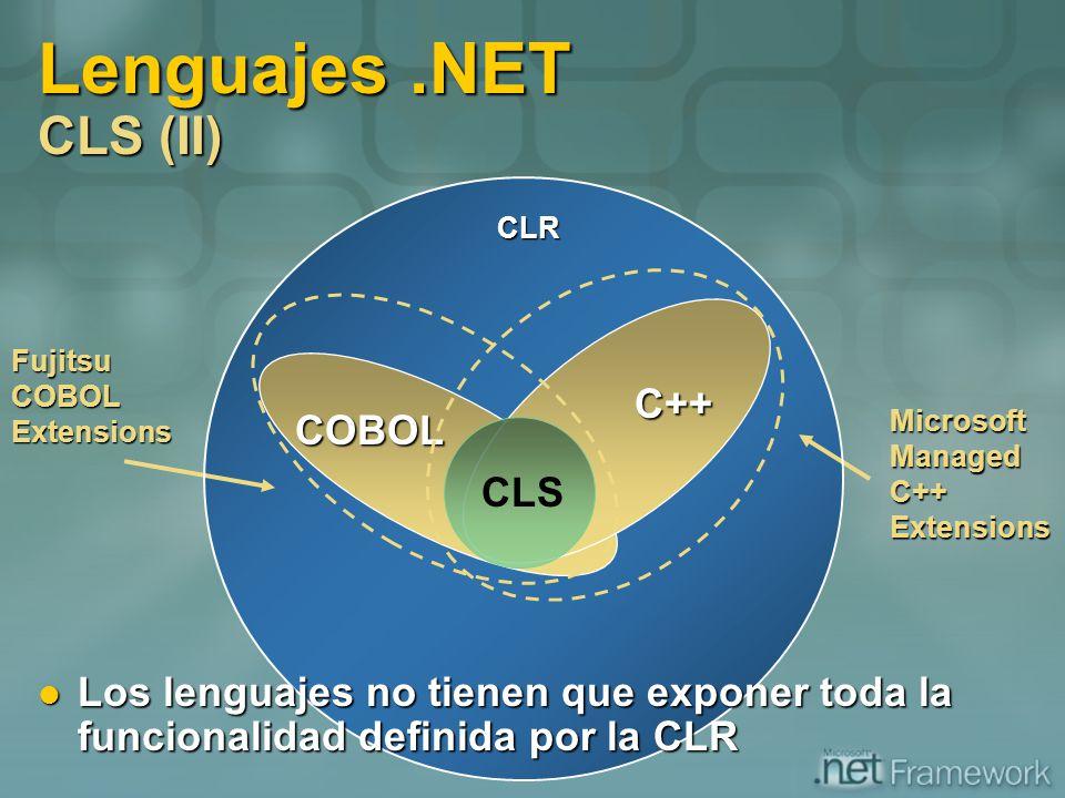 Lenguajes .NET CLS (II) C++ COBOL CLS