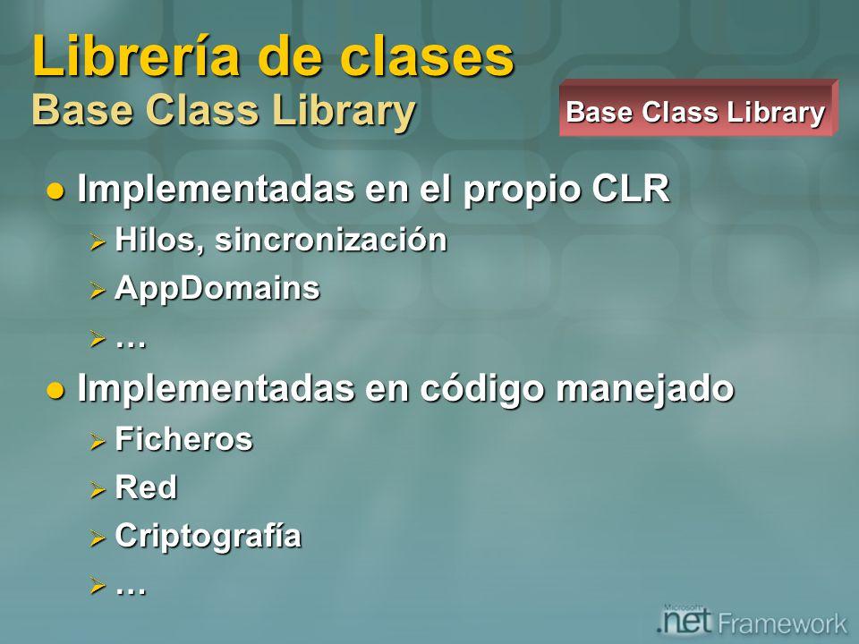 Librería de clases Base Class Library