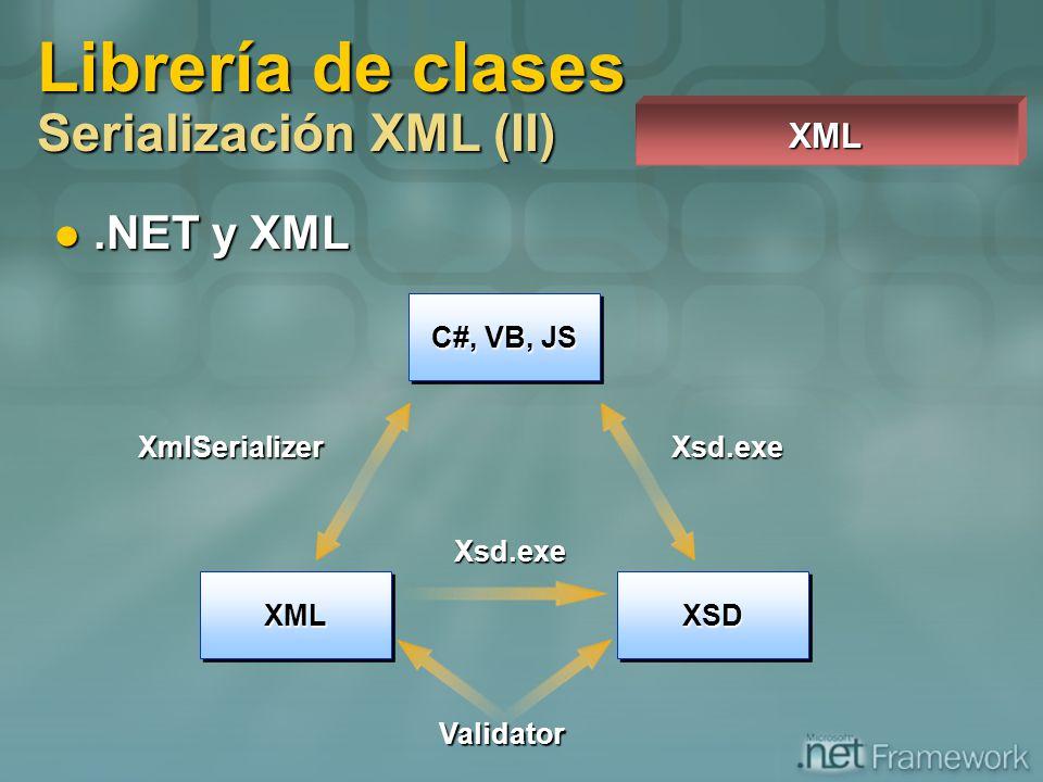 Librería de clases Serialización XML (II)