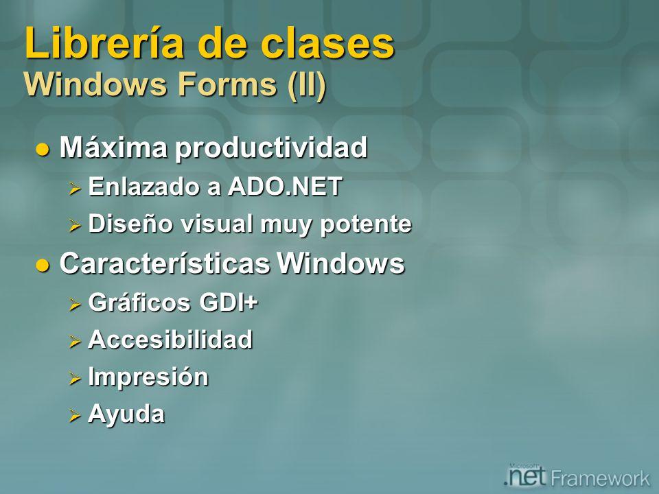 Librería de clases Windows Forms (II)