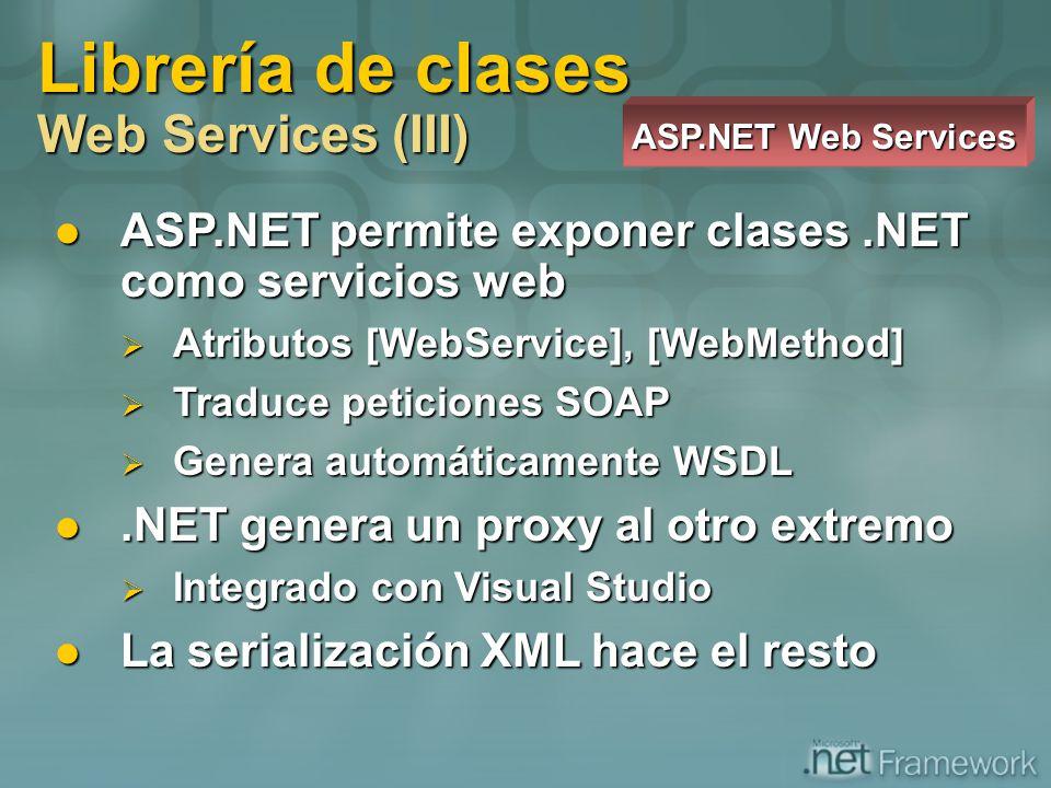 Librería de clases Web Services (III)