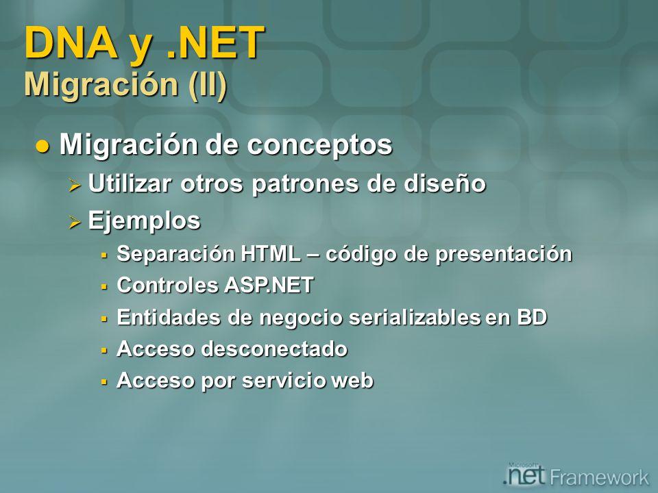 DNA y .NET Migración (II)