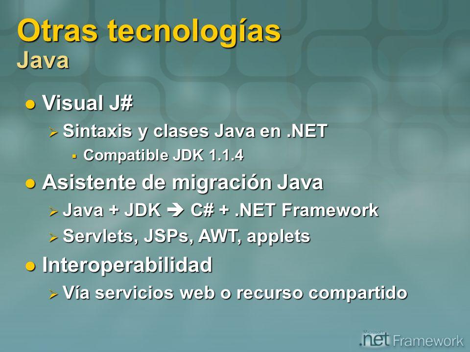 Otras tecnologías Java