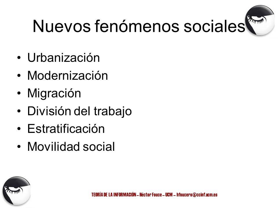 Nuevos fenómenos sociales