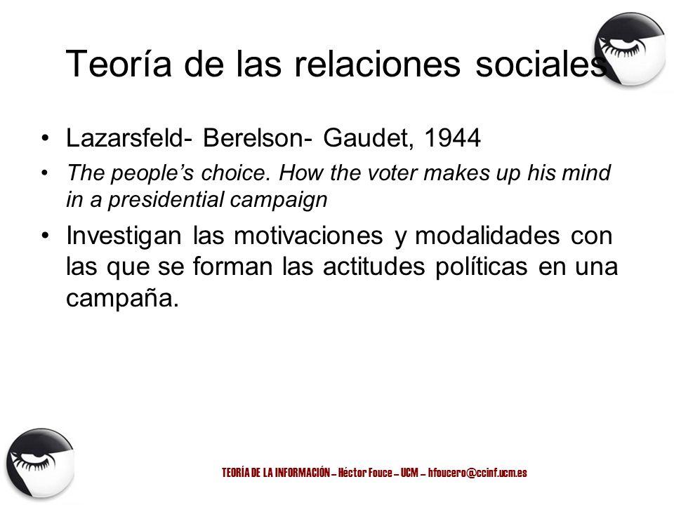 Teoría de las relaciones sociales