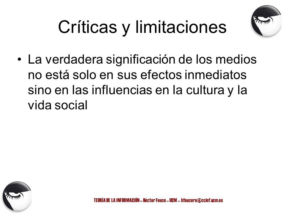 Críticas y limitaciones