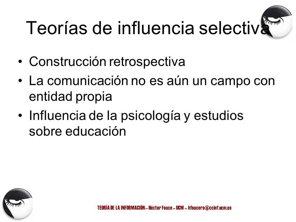 Teorías de influencia selectiva