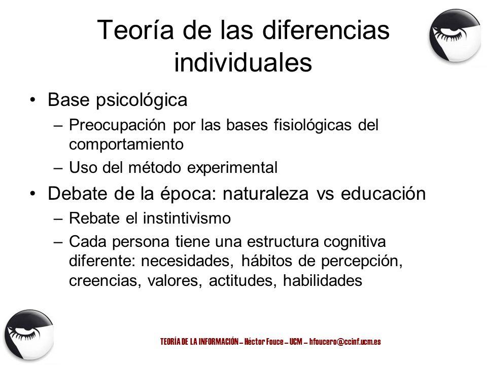 Teoría de las diferencias individuales