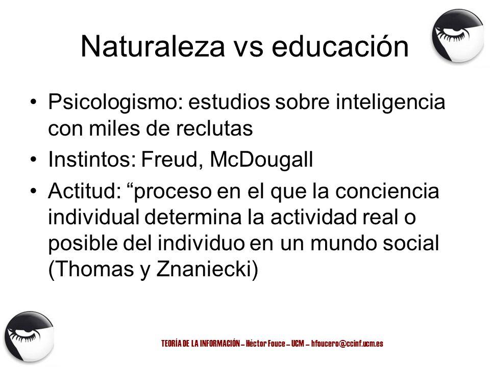 Naturaleza vs educación