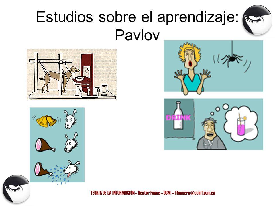 Estudios sobre el aprendizaje: Pavlov