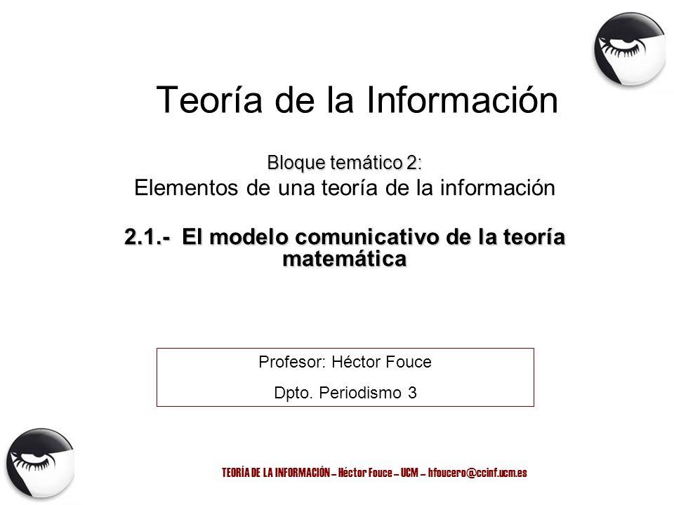 Teoría de la Información