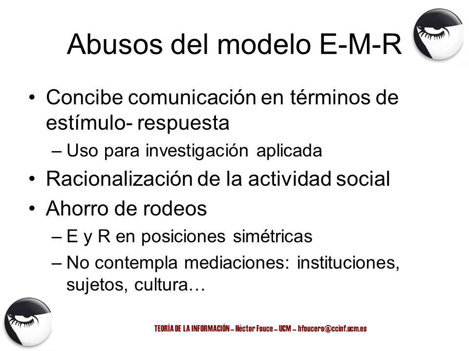 Abusos del modelo E-M-R